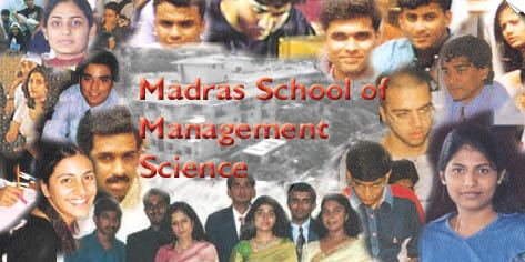 Madras School of Management Science chennai