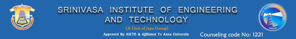 SRINIVASA INSTITUTE OF ENGINEERING AND TECHNOLOGY  chennai