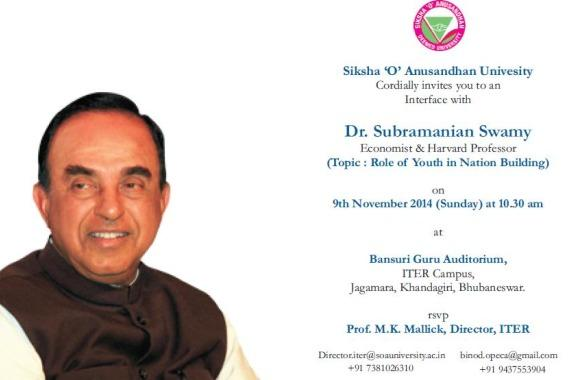 Role of Youth in Nation Building By Dr. Subramanian Swamy