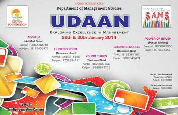 UDAAN 2014, Two Day Management Fest Sandip Foundation