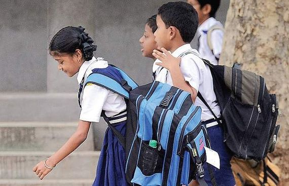 Weight of School Bags to be Monitored Regularly