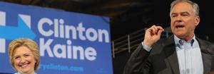 Kaine Make Debut As Clinton Running Mate