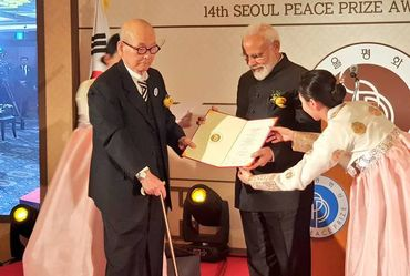 PM Modi Receives Seoul Peace Prize