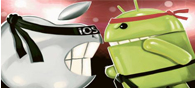 Two Smartphone Mobile OS Gladiators