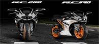 The RC 200 Launched at 1.60 lakh, RC 390 at 2.05