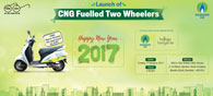 CNG Fueled Two-Wheeler Launched In Mumbai