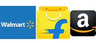 Walmart, Flipkart To Take On Amazon In India