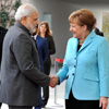German Chancellor Angela Merkel Arrives, To Hold Talks with PM Modi Tomorrow