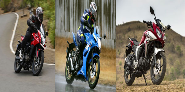 On Road Battle: Pulsar AS150 Vs Fazer Fi Vs Gixxer SF