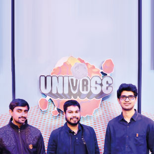 (L to R)Kishore Godithi,Preetam Dhengle& Gaurav Totla,Co-Founders
