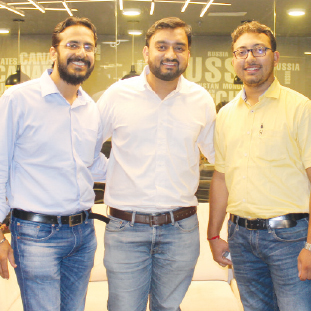 Umesh Uttamchandani, Rushit Shah & Parth Shah,Co-Founders