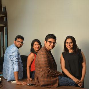 Chinmoy Rajwanshi, Sonam Agarwal, Shashank Shwet & Vidhika Rohatgi ,Founders