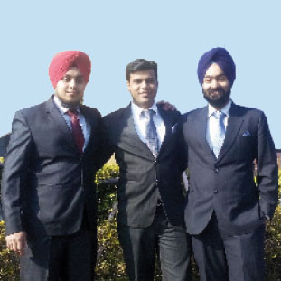 Deep Hans Arora, Simardeep Singh and Jaspreet Singh,, Co-Founder & Director