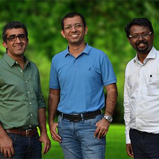 Prateek Mehta, Vijay Krishna & Rajesh Bernard,Co-Founders