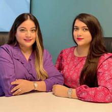 Mahima Sharma and Khushbu Bhatia,Managing Partners