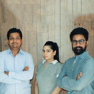 Vikas Yogi, Chhavi Kaushik & Amit Sharma,Co-Founders