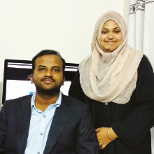 Basheer Boddikonda and Shaestha Shamrin Lepakshi,Founders