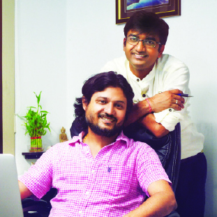 Bibhor Singhania, CEO & Co-Founder,Banibrata Goswami, CCO & Co-Founder
