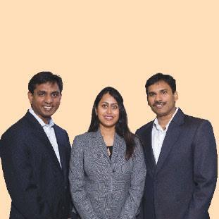Sri Vasireddy, Rupa Vasireddy & Sekhar Puli,Managing Partner.