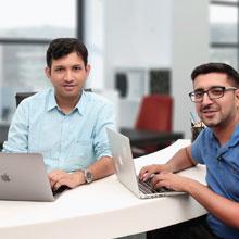 Ashu Gupta, CTO & Co-founder,Sanjay Khurana, Director & Co-founder