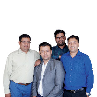 Amit Patel, Ravi Bhalla, Sagar Gulati & Parth Bhatt,Director , Head – Content & Embedded,  Founding Director, Director, Head Projects & Director, Head – Operations