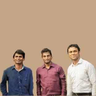 Vineet Neeraj, Mohan Gayam & Karthik Ramaiah.,Co-Founders