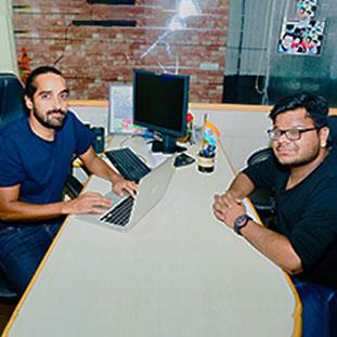 (L-R) Satyan Choski, CEO,Nishant Trivedi, Vice President