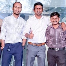 Pradeep Zille, Ravi Pujari, and Shrishail Pattar,Co-founders