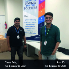 Varun Jain,  Co-Founder & CEO ,Ravi Kr,  Co-Founder & COO