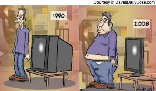 Slim TV Vs Fat Man