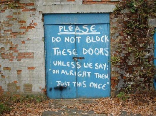 Don't Block The Doors
