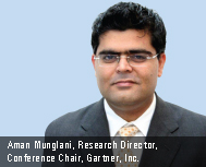 Aman Munglani, Research Director, Conference Chair, Gartner, Inc.