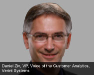 By Daniel Ziv, Vice President, Voice of the Customer Analytics, Verint Systems