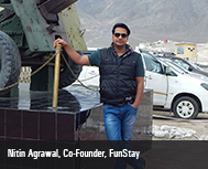 Nitin Agrawal, Co-Founder, FunStay