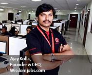 Ajay Kolla, Founder & CEO, Wisdomjobs.com