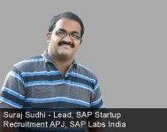 By Suraj Sudhi,  Lead, SAP Startup Recruitment APJ, SAP Labs India