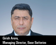 Girish Arora, Managing Director, Base Batteries