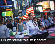 First International Yoga Day in America