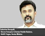Sudarshan Boosupali, Director- Enterprise & Service Provider Business, SAARC Region, Ruckus Wireless