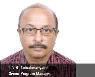 T.V.B. Subrahmanyam, Senior Program Manager (Global) part of the Consumer SBS (Strategic Business Se
