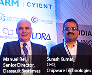 Manuel Rei, Senior Director, Dassault Systèmes & Suresh Kumar, CEO, Chipware Technologies