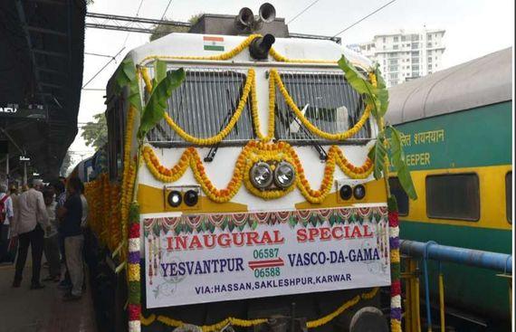New Bengaluru-Goa Express Train Flagged Off