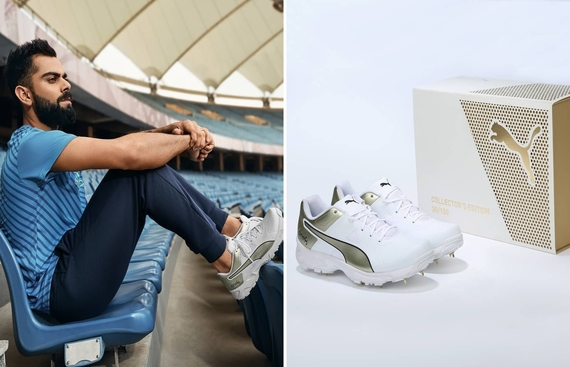 Puma India & Dunzo Works Together to Deliver Limited Edition One8 Merchandise; Kohli Worn Golden Spikes