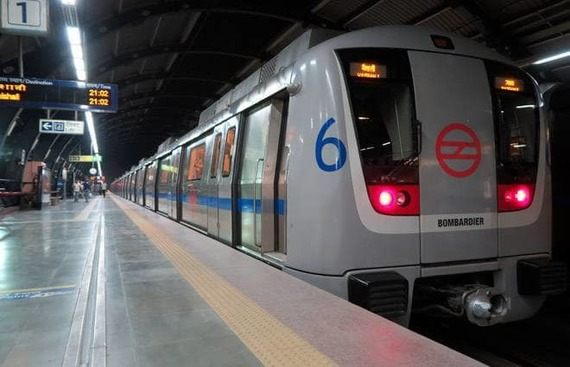 Delhi metro stations double up as art galleries