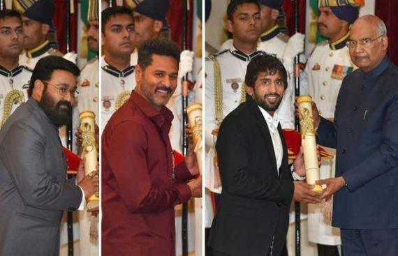 President gives away 55 Padma awards
