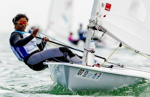 Kumanan, 49er team continue to lead in Olympic qualifier