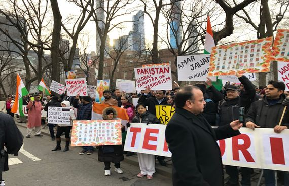 Indian Americans Protested at Pakistan Consulate to Stop global Terrorism Sponsored by Pakistan