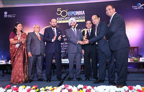 Jindal Aluminium Limited Wins the Coveted National Award for the Third Time in the Category of Export Excellence 2017-2018 by EEPC