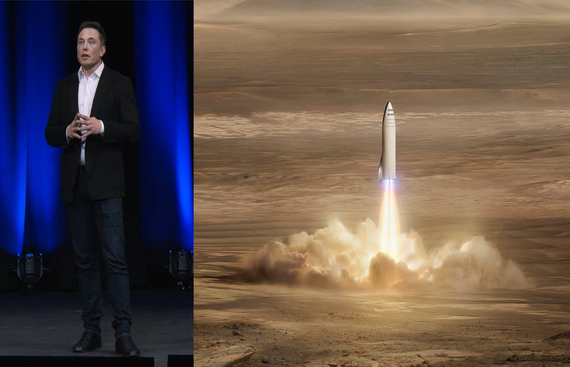 Elon Musk showcases SpaceX's Starship test rocket