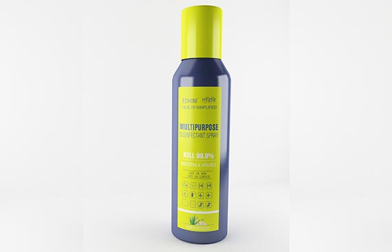 Protect yourself from the Coronavirus with Edhini's Multipurpose Disinfectant Spray